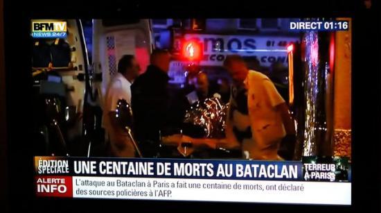 Bfm chaine d info attentats vendredi 13 novembre 2015 ecran tele 5464578